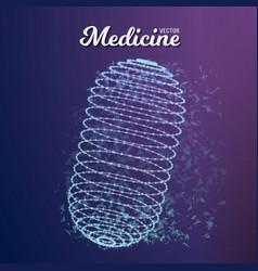 medicine pill vector image