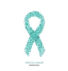 Modern cervical cancer awareness circles vector