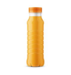 Orange juice bottle template vector