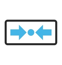 Pressure horizontal framed icon vector