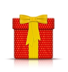 Realistic Gift Box Wrapped by Paper vector image vector image