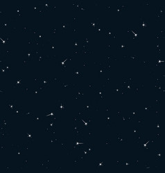 Seamless pattern sky with stars vector