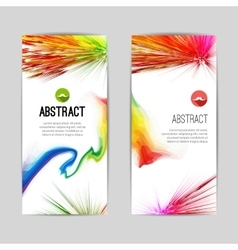 Set of creative trendy vertical colorful stripes vector