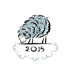 Sheep sketch symbol of new year 2015 vector image