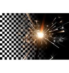 Sparkler on a transparent background vector image vector image