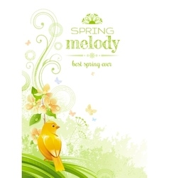 Spring nature poster isolated white vector