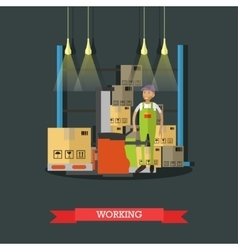 Logistic and delivery service concept banner vector