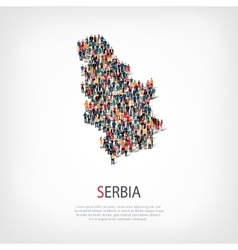 People map country serbia vector