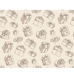 Sketch present boxes vector image