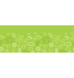 Environmental horizontal seamless pattern vector