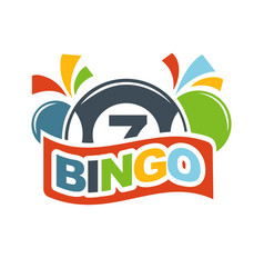 Bingo lottery lucky balls numbers of lotto win vector