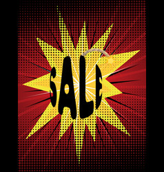 Sale on bomb vector