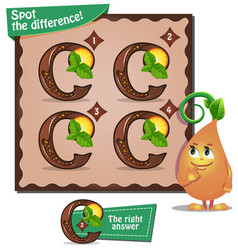 Spot the difference letters c2 vector