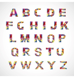 Creative colorful alphabet set vector