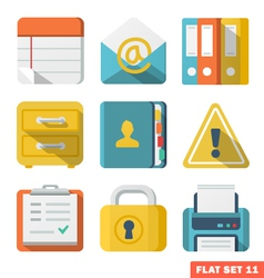 Officeflat icons vector
