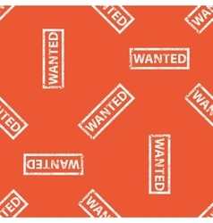 Orange wanted stamp pattern vector