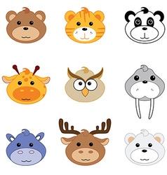 Zoo animals vector image