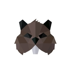 Rodent polygon logos low poly style vector