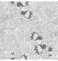 Khokhloma decorated seamless texture line art vector