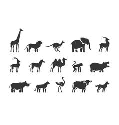 Animals icons set vector