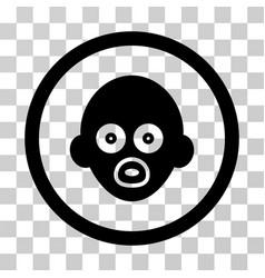 baby head icon vector image