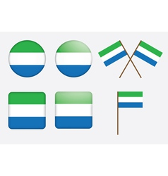 badges with flag of Sierra Leone vector image