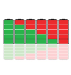 battery charging vector image