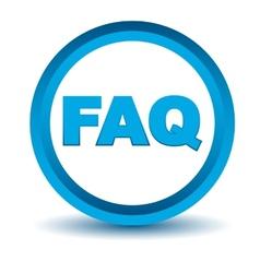 Blue faq icon vector image