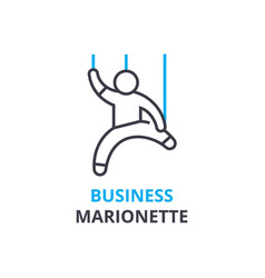 Business marionette concept outline icon linear vector