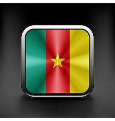Cameroon icon flag national travel icon country vector image