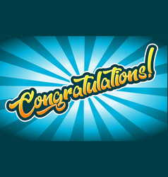 Congratulations greeting card banner vector