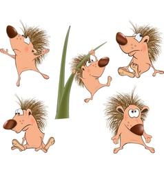 Cute hedgehogs set Cartoon vector image vector image