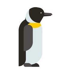 Emperor penguin cute animal and nature cold vector