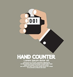 Flat design hand counter vector