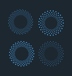 halftone dots in circle shape round dotted logo vector image vector image