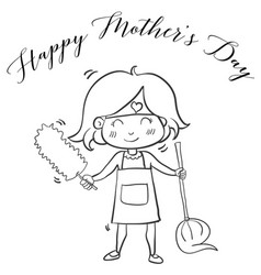 Hand draw mother day collection vector