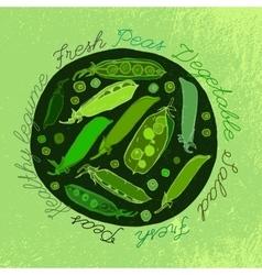 Hand Drawn Peas 02 A vector image