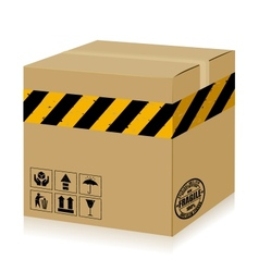 Handle With Care Box danger vector image