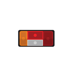 Isolated taillight flat icon headlight vector