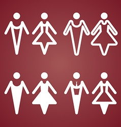 Male and female restroom symbol icon vector
