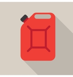 Metal canister of gasoline vector