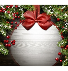 New Year background with Christmas ball vector image vector image