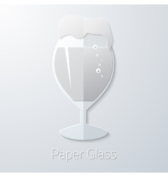 Paper Glass of Beer Flat Long Shadow Icon vector image vector image