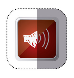 red symbol volume technology icon vector image vector image