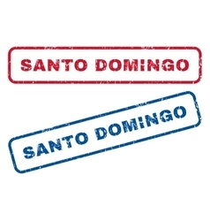 Santo domingo rubber stamps vector