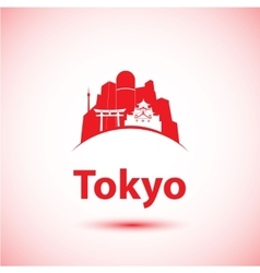 silhouette of modern Tokyo City skyline vector image