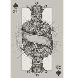 Skeleton King vector image vector image