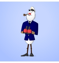 Snowman captain vector