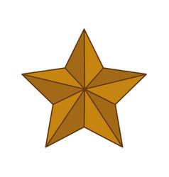 star shape decoration vector image