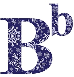 Uppercase and lowercase letters b vector